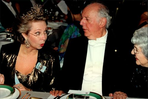 Princess Christina and Nobel Prize winner Dario Fo at the Nobel Dinner in City Hall