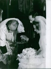 Carlos Hugo, Duke of Parma and Piacenza busy in wedding activity. 1964