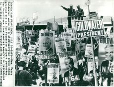 Arizonator Barry Goldwater launched his convention in San Francisco