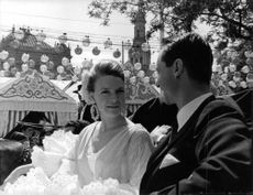 Princess Irene and Carlos Hugo riding a cart in Seville, Spa 1967.