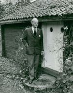 The author Olle Hedberg at his author's house