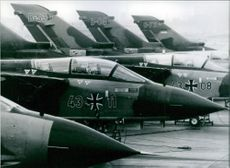Tornado - MRCA aircraft currently attached to the NATO forces and in training in Cottesmore, England 1983