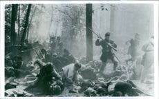 """A scene from the movie """" Gettysburg"""" 1993"""