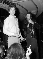 Robert Kennedy Jr. With his fiancee photographer Jules Dreyfus at the Studio 54 nightclub