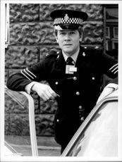 Portrait image of an English police.