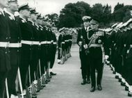 Field Marshal Viscount Montgomery visits the Royal War School