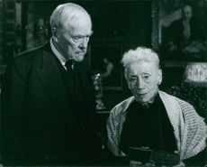 """Victor Sjöström and Naima Wifstrand in a scene from the 1957 Swedish film, """"Wild Strawberries""""."""