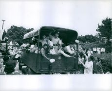 Food being distributed to Vietnamese people. 1962