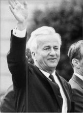 Richard Von Weizsacker smiling.