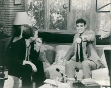 Prince andrew talking to david frost.