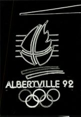 Illuminated sign for the Olympic Winter Games in Albertville in 1992
