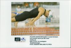 OS in Atlanta 1996. Louise Karlsson's new Swedish record of 200 meters medley at trial