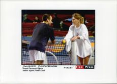 The tennis courts Andre Agassi and Steffi Graf at Eurocard-Open