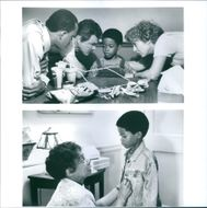 Ralph Wilcox, Holland Taylor, Ruby Dee, Burton Reynolds, and Norman Golden II, in a scenes of the film,