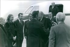 Henrik, Prince Consort of Denmark meeting with people, 1972.