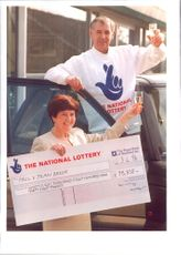 Paul & Jean Baker Celebrate lottery win.