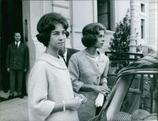 Princess Irene of the Netherlands getting in the car.