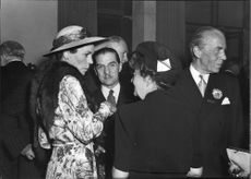 Red Cross reception with Countess Estelle Bernadotte at annual conference