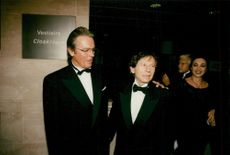 Actor Alain Delon and Director Roman Polanski at Rudolph Valentino Awards