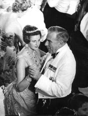 Princess Alexandra dancing with the man.