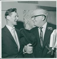 Evert Taube and Lecturer Hildeman