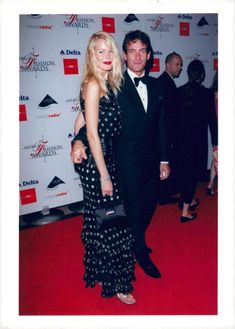 Claudia Schiffer and Tim Jeffries at the American Fashion Awards at Lincoln Center