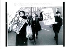 Woman are protesting against Abortion.