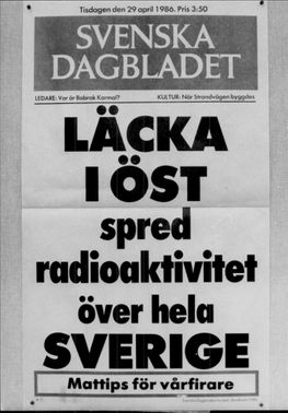 An expedition from Svenska Dagbladet about the Chernobyl accident