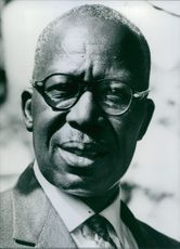 Close up of Rhodesian personalities former Trade Union Leader Lawrence Charles Mzingeli