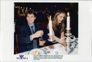 Arnaud Boetsch with the girlfriend Mireeille at the banquet associated with the Davis Cup 1996