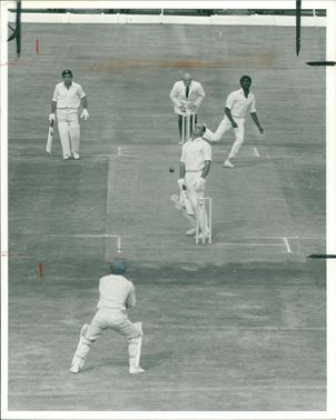 Brian Close with Michael Holding