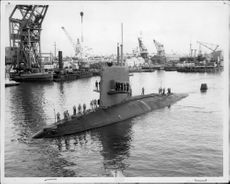 """The submarine """"Scorpion"""" arrives at Portsmouth"""