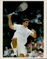Action shot at Pete Sampras taken in an unknown contest.