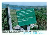 Aillenacally ireland:a notice outside aillenacally.