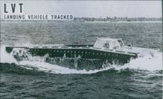The LVT is an amphibious tractor which can run right up on the beach.