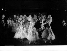 Women performers dancing in the party.
