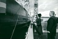 At Finnboda Varf M / S Sibelius was baptized by Godmother MD Nadine Francfort. T.H. Governor George Svensson