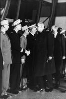 Charles de Gaulle arrive at the John F. Kennedy funeral, 1963.