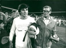 Sebastian Coe with his father Peter