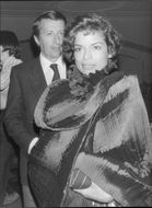 Bianca Jagger and Olivier de Montal