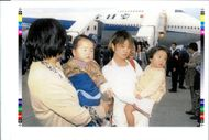 Aircraft Skyjack All Nippon 747 1995: released passengers of the hijacked all Nippon Airways.