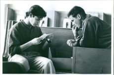 """Noah Wyle and Peter Berg in a scene from the film """"Crooked Hearts""""."""