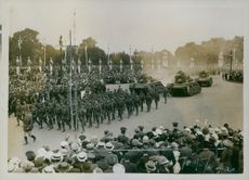 A victory parade in London, 19 July 1919.