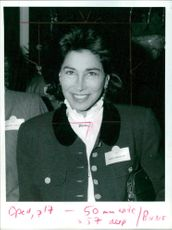 Mrs Patricia Rawlings: at a lunch in london