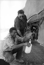 Two men refilling a container with water while the military truck is stationary  The Algerian War, also known as the Algerian War of Independence or the Algerian Revolution  was a war between France and the Algerian independence movements from 1954 to 196