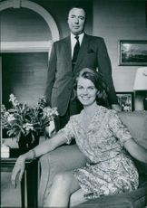 Princess Margaretha, Mrs. Ambler,  photographed together with a man.