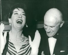 Samuel Goldwyn together with actress Rosalind Russel