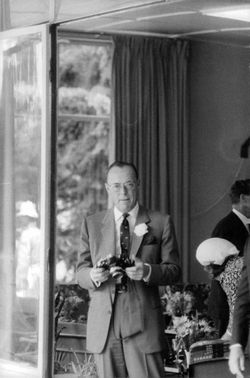 Prince Bernhard of the Netherlands with a camera.