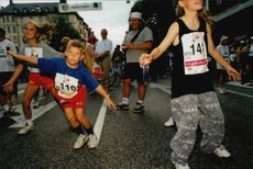 Midnight race in Stockholm. Fredrik Gustavsson (far right) belonged to the younger participants