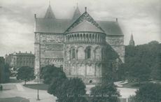 Lund Cathedral seen from the east - postcard